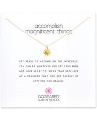 Dogeared - Starburst Pendant Necklace - Lyst