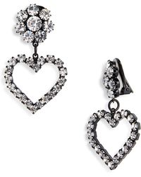 e190cd20d Ashley Williams Flower & Heart Clip On Earrings
