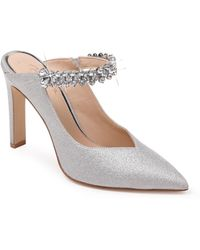 Badgley Mischka Stella Crystal Mule Pump - Metallic