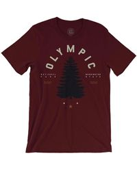 Parks Project Men's Olympic National Park Graphic Tee - Red