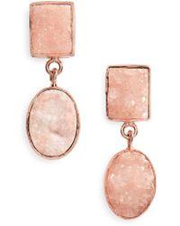 Panacea | Double Drusy Drop Earrings | Lyst