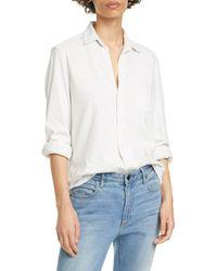 Frank & Eileen Knit Button-up Shirt - White
