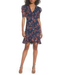 Keepsake - Need You Now Floral Ruched Dress - Lyst