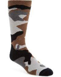 Nordstrom Camo Butter Socks - Gray