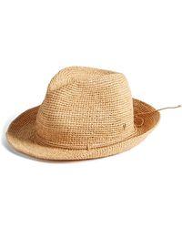 Helen Kaminski - Raffia Crochet Packable Sun Hat - Lyst