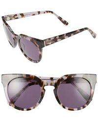 Derek Lam   'stella' 51mm Round Sunglasses - Lilac Tortoise   Lyst