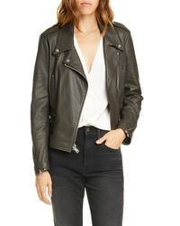 FRAME Pch Leather Moto Jacket - Multicolor