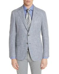 Canali - Kei Classic Fit Check Sport Coat - Lyst