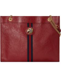 990de71921c89a Gucci Linea Totem Large Leather Top-handle Bag With Butterfly & Web ...