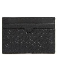 Loewe - Puzzle Textured Leather Cardholder - Lyst