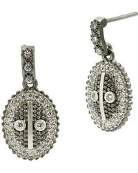 Freida Rothman - Industrial Finish Oval Drop Earrings - Lyst