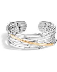John Hardy - Bamboo 18k Gold & Silver Flex Cuff Bracelet - Lyst