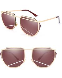 SUNNYSIDE LA - 67mm Mirrored Sunglasses - Lyst