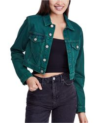 BDG - Urban Outfitters Overdyed Crop Denim Jacket - Lyst