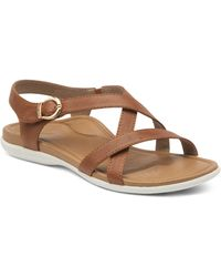 Aetrex Penny Strappy Sandal - Brown