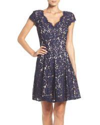 Eliza J - Lace Fit & Flare Dress - Lyst