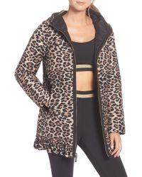 Kate Spade - Reversible Leopard-print Parka - Lyst