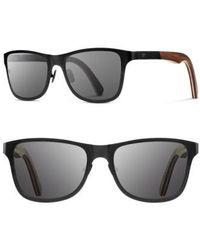 Shwood - 'canby' 54mm Titanium & Wood Sunglasses - Lyst