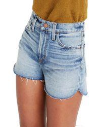 30dc76378907 Madewell Perfect Daisy Embroidered High Waist Denim Shorts (aberdeen ...