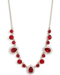 Givenchy - Teardrop Crystal Frontal Necklace - Lyst