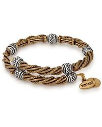 ALEX AND ANI | Relic Two-tone Expandable Bangle | Lyst