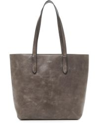 Botkier Highline Leather Tote - Gray