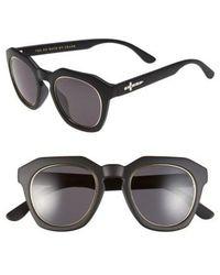 Crap Eyewear - 'no Wave' 47mm Sunglasses - Flat Black/ Grey Lenses - Lyst