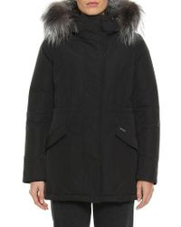 Woolrich - City Arctic Down Parka With Genuine Fox Fur Trim - Lyst