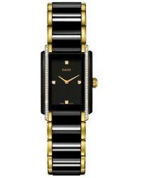 Rado - Integral Diamond Ceramic Bracelet Watch - Lyst