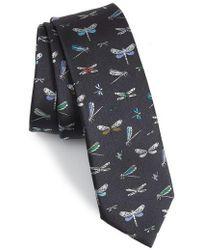 Valentino - Dragonfly Silk Tie - Lyst