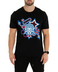 Maceoo Icon Lion Graphic Tee - Black