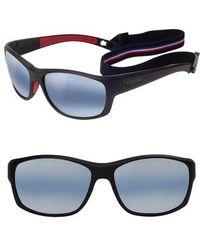 Vuarnet - Large Cup 62mm Polarized Sunglasses - Matt Black / Red - Lyst
