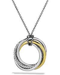 David Yurman - Crossover Pendant With Gold On Chain - Lyst