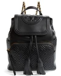 Tory Burch - Fleming Lambskin Leather Backpack - - Lyst