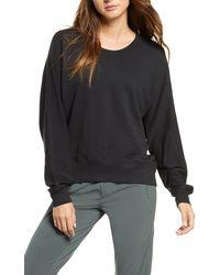 Zella Carey Crew High/low Sweatshirt - Black