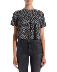Mother The Slouch Crop T-shirt - Black