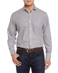 Thomas Dean | Stripe Herringbone Sport Shirt | Lyst