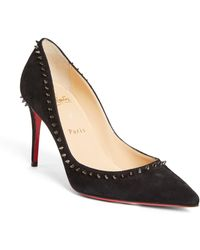 Christian Louboutin Anjalina Studded Pointed Toe Pump - Black