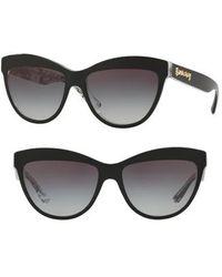 a9b92931585 Burberry - Acoustic 56mm Cat Eye Sunglasses - Top Black Gradient - Lyst