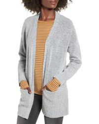 Dreamers By Debut - Rib Edged Open Cardigan - Lyst