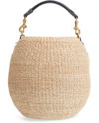 bc8f0daff4 Clare V. - Pot De Miel Top Handle Straw Basket Bag - Lyst