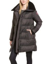 Canada Goose - Altona Water Resistant 750-fill Power Down Parka With Genuine Shearling Collar - Lyst