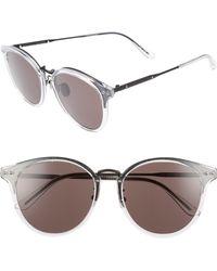 Bottega Veneta - 56mm Round Sunglasses - Bronze - Lyst