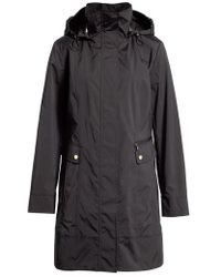 Cole Haan - Back Bow Packable Hooded Raincoat - Lyst