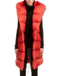 Rick Owens Oversized Down Puffer Vest - Red