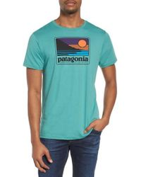 Patagonia - Up & Out Graphic Organic Cotton T-shirt - Lyst