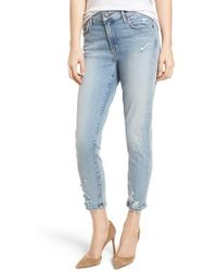 Agolde - Sophie Distressed High Waist Crop Skinny Jeans - Lyst