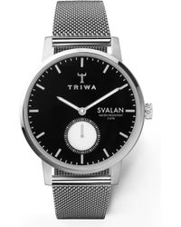 Triwa Ebony Svalan Mesh Strap Watch - Multicolor