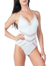 Kenneth Cole | Laundry By Shelli Segal Mesh One-piece Swimsuit | Lyst