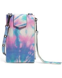 Aimee Kestenberg Getaway Rfid Leather Phone Crossbody Pouch - Blue